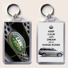 KEEP CALM and DREAM OF A RANGE ROVER 2013 Range Rover Land Rover Badge Keyring